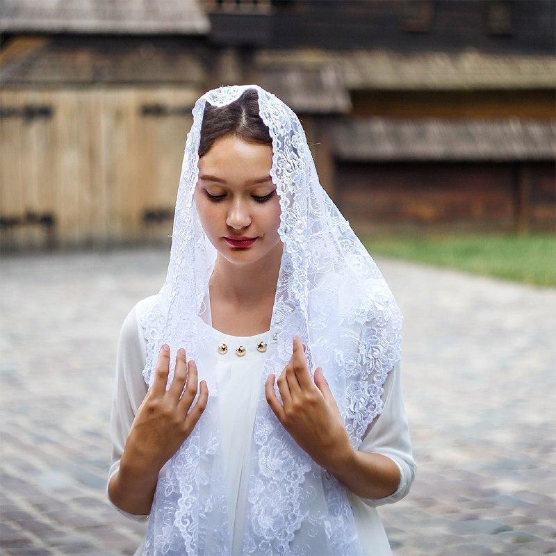 Белый свадебный палантин Волнующая роспись