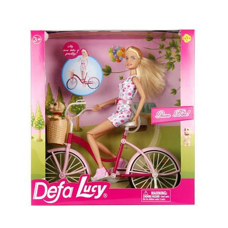 """Кукла """"Defa"""" на велосипеде8276"""