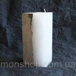 Свічка - бетон 7х8 см (аромат і колір на вибір)