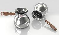 Турка-Джезва медная 150мл внутри и снаружи покрыта серебром ZH