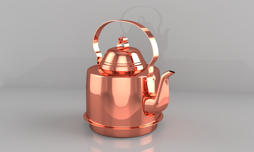 Чайник медный 1,5л. ZH