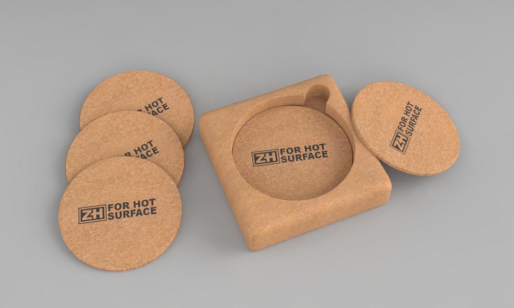 Костеры пробковые (набор 6шт) ZH