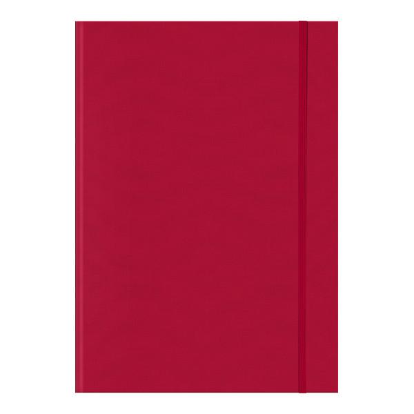 Книга записная Melissa красная А4, клетка