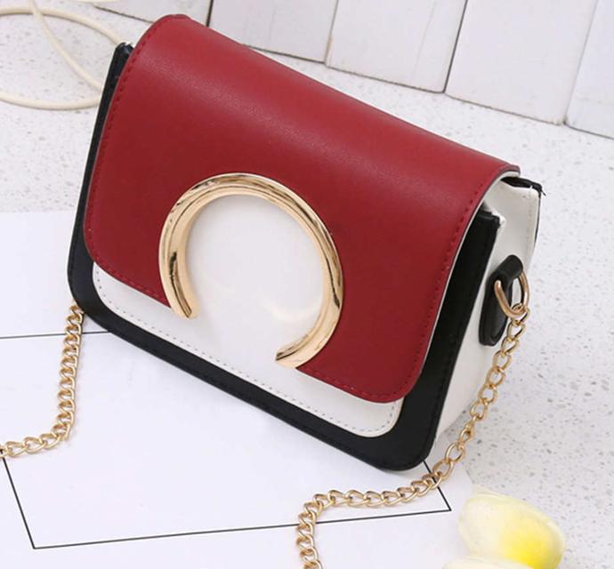 Стильная женская  сумка комбинированная