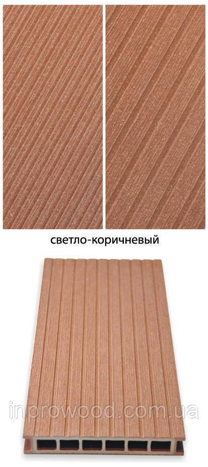 Терасна дошка ДПК Gamrat Польща 25х160х3000 Світло-коричневий