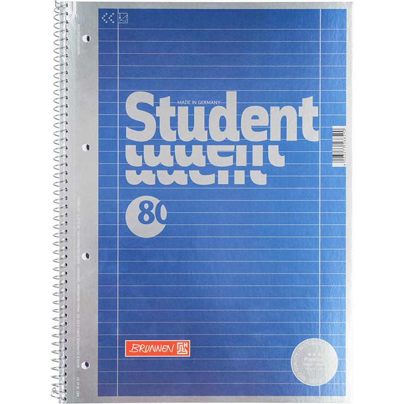 Колледж-блок А4 Premium, линия, голубой металл