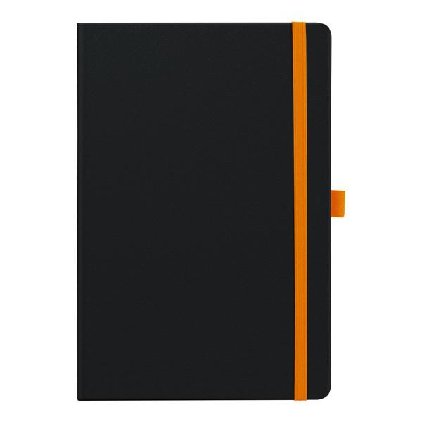 Еженедельник 2019 Смарт Strong черный, оранжевый срез
