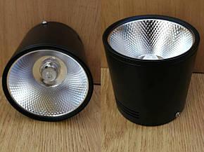 Накладной светильник черный светодиодный, спот 20W Ledmax, фото 2