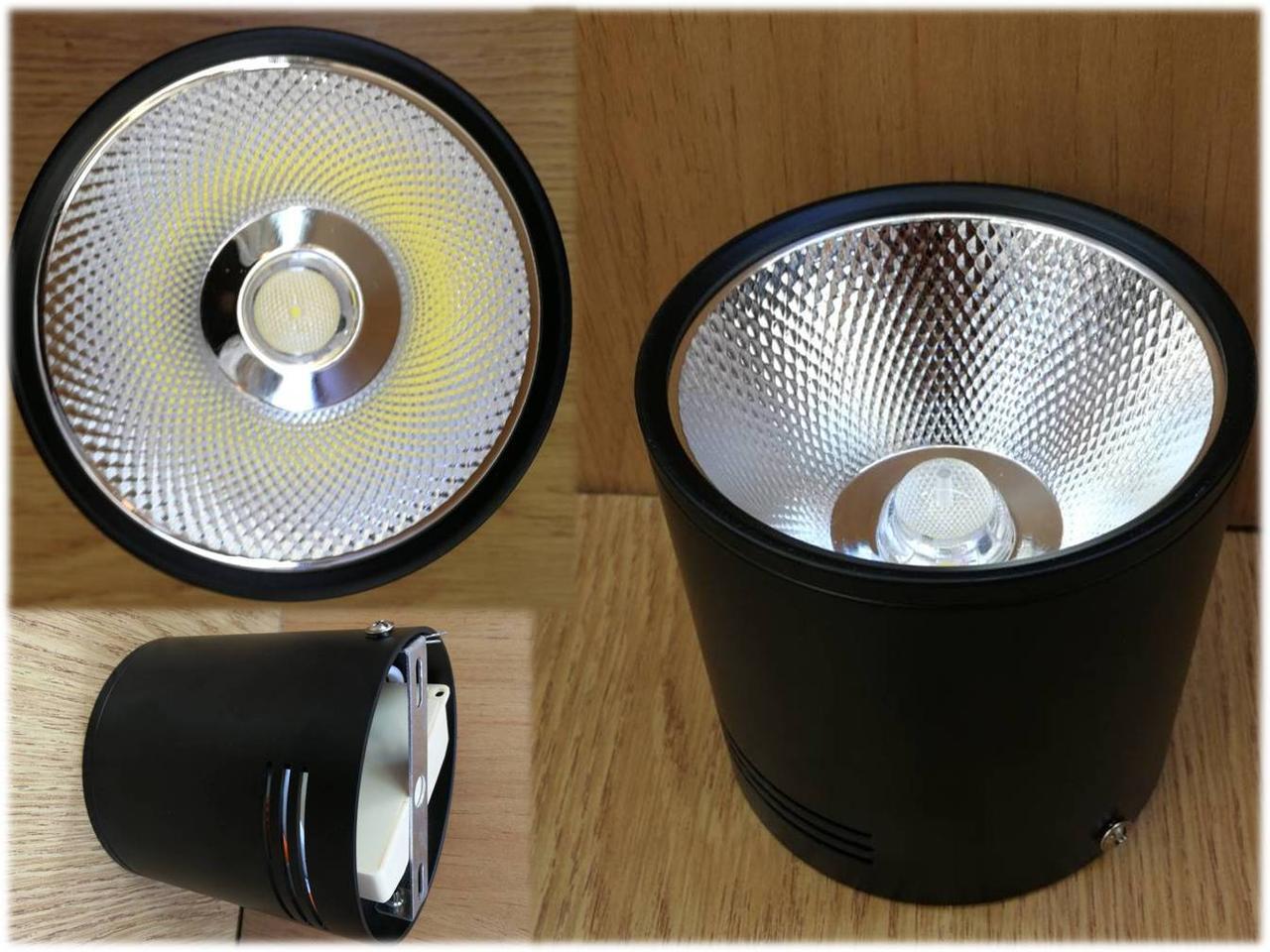 Накладной светильник черный светодиодный, спот 20W Ledmax