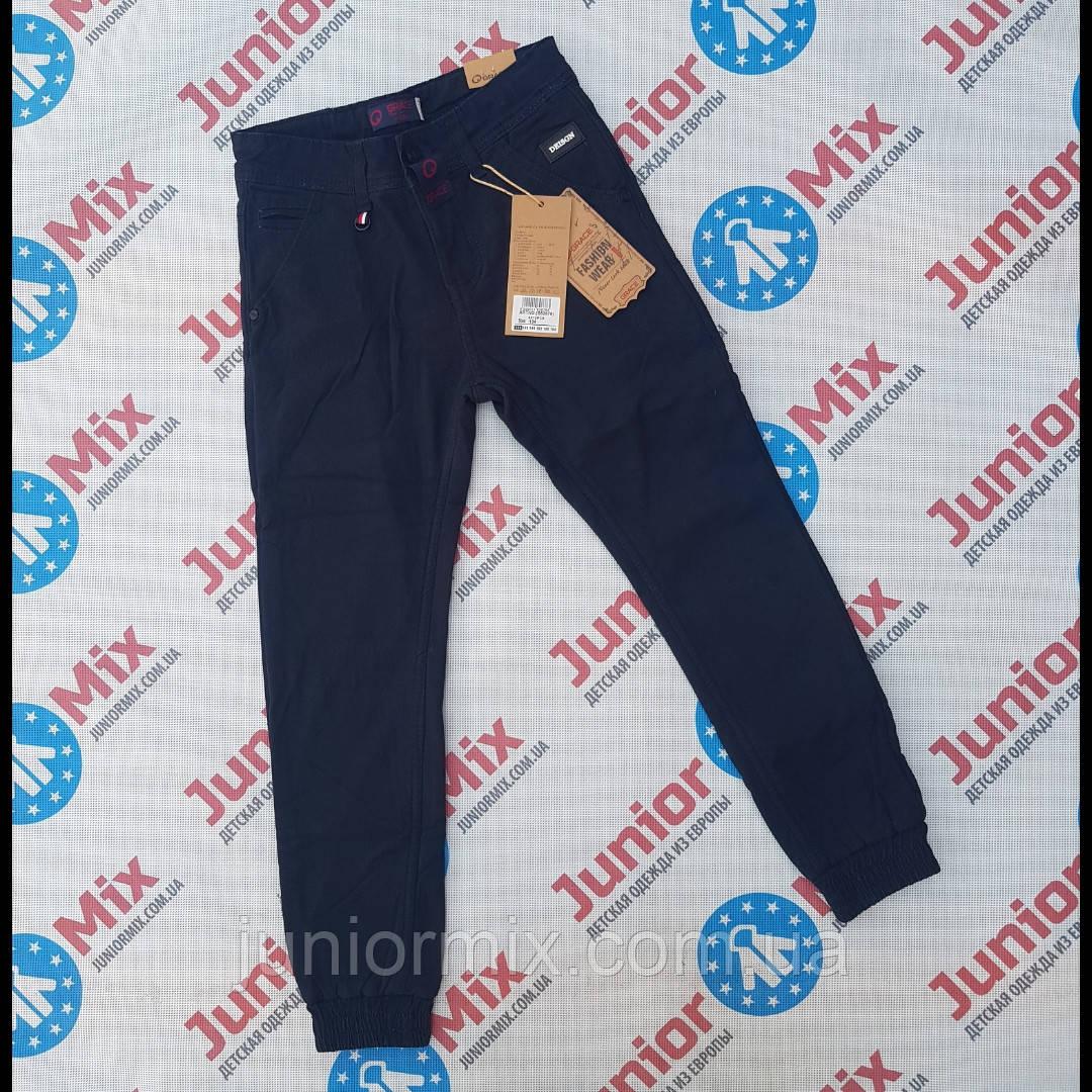 Подростковые  теплые  синие котоновые брюки на флисе для мальчиков  оптом GRACE