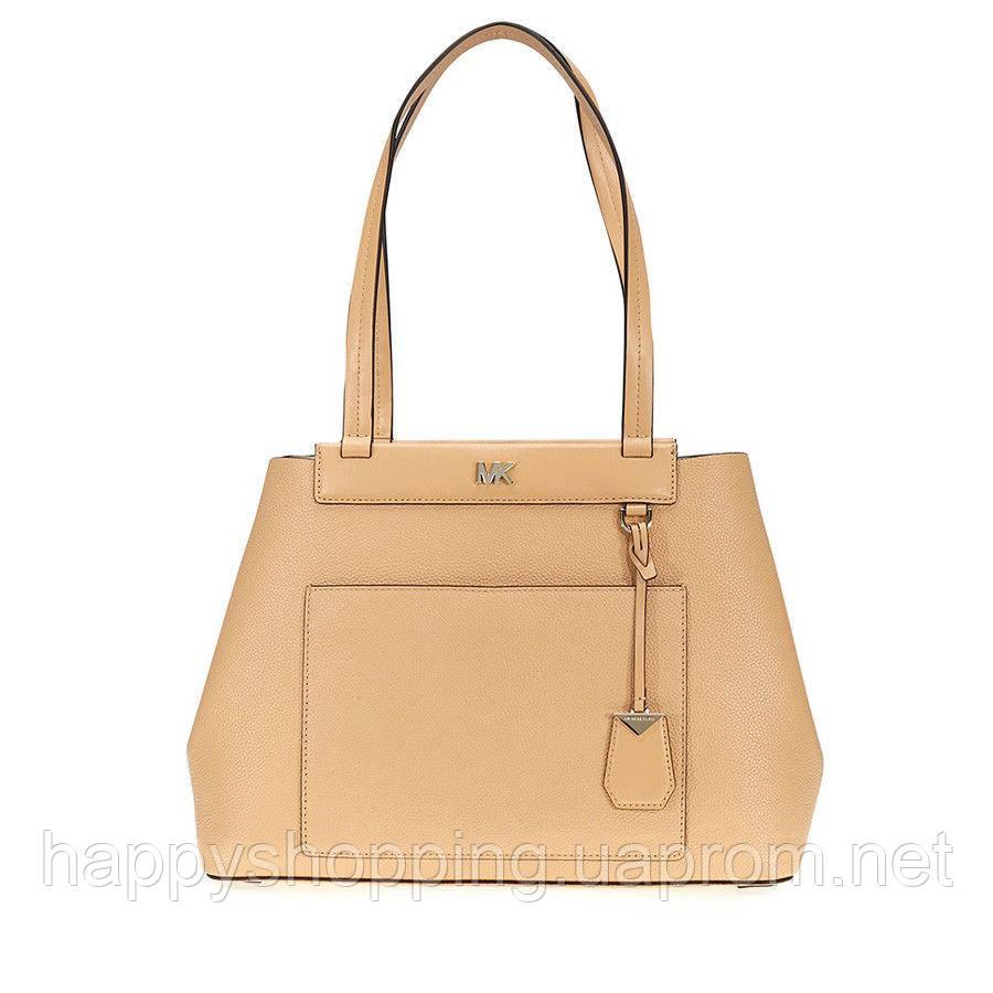 """Женская оригинальная большая бежевая сумка """"Meredith""""  известного бренда Michael Kors"""