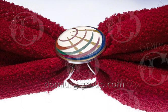 Кольцо для платка покрытие никель с эмалями