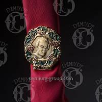 Кольцо для платка с изображением Т.Г. Шевченко