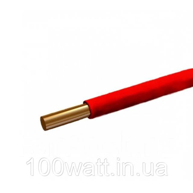Провод ПВ-1 6,0 красный (монолит) ГОСТ
