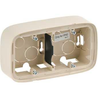 Двухместная коробка для накладного монтажа - 166 x 955 x 448 мм - Valena Allure - слоновая кость