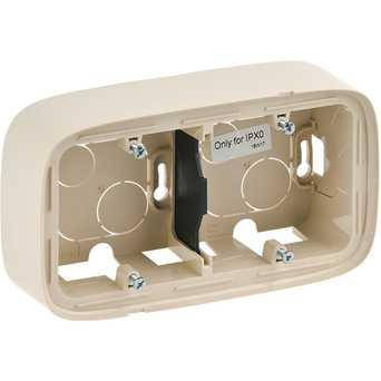 Двухместная коробка для накладного монтажа - 166 x 955 x 448 мм - Valena Allure - слоновая кость, фото 2