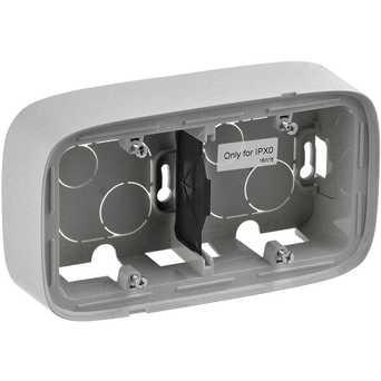 Двухместная коробка для накладного монтажа - 166 x 955 x 448 мм - Valena Allure - алюминий