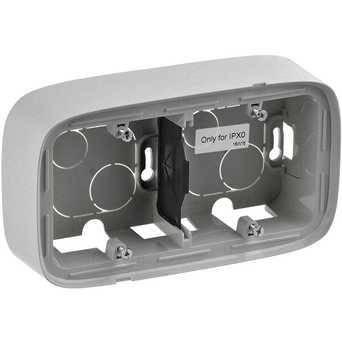 Двомісна коробка для накладного монтажу - 166 x 955 x 448 мм - Valena Allure - алюміній, фото 2