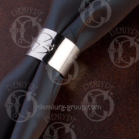 Кольцо для платка с логотипом. Покрытие никель