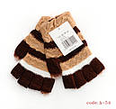 Перчатки с обрезанными пальцами букле женские (продаются только от 12 пар), фото 2