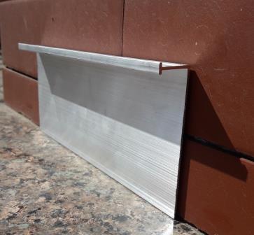 Плинтус алюминиевый скрытого монтажа 70х3000 мм без покрытия