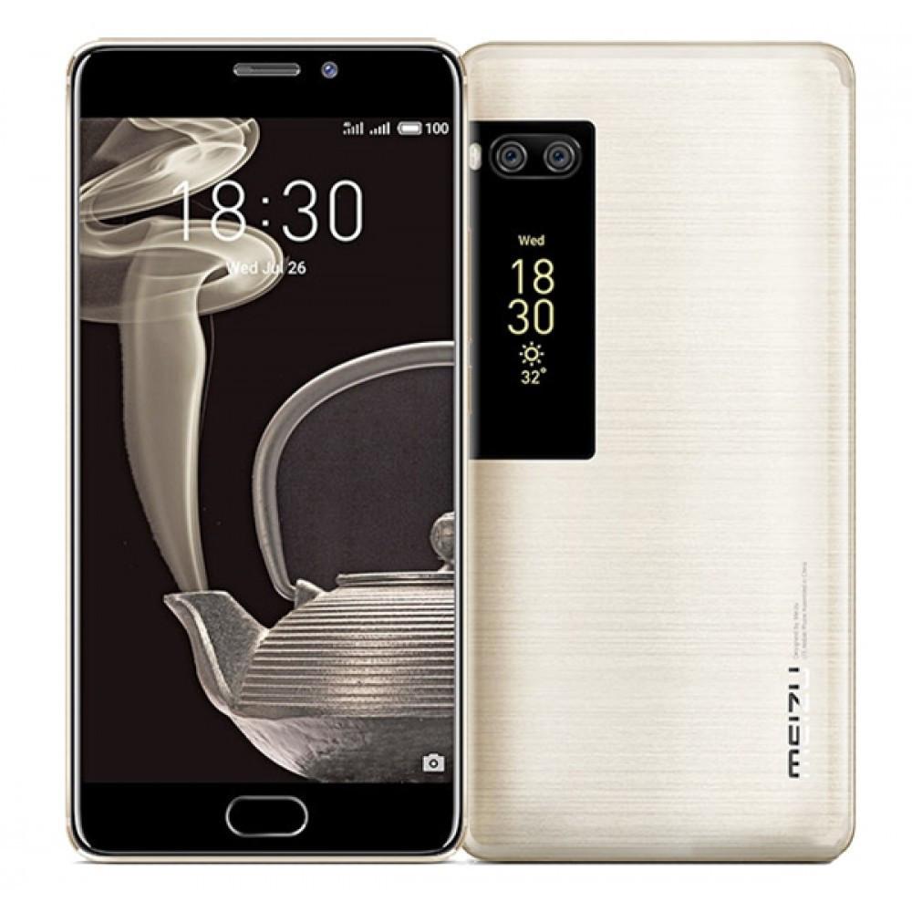 """Смартфон Meizu Pro 7 Gold 4/128Gb, 12+12/16Мп, 8 ядер, 2sim, экран 5.2"""" Amoled, 3000mAh, GPS, 4G, 12 мес."""