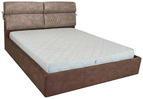 Кровать Эдинбург Стандарт Афина Brown подушка беж, 90х190 (Richman ТМ)
