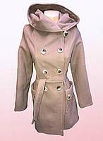 Женское кашемировое пальто с капюшоном (2409/23)