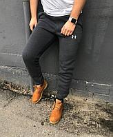 Мужские штаны на флисе Under Armour dark grey (реплика)