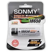 Аккумулятор SDNMY 18650-4800mAh, защита, блистер