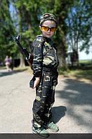Комбинезон детский для мальчиков камуфляж темный лес рост 140 см.