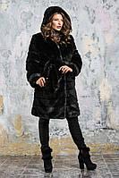 Шуба из эко меха 084 черная, фото 1