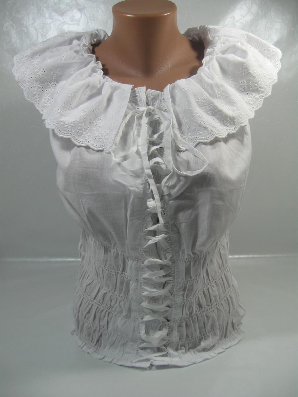 Блузка летняя женская, размеры S(2),M(4),L(3), хлопок 100%, арт. 1108/7468