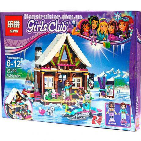 "Конструктор Lepin 01040 ""Горнолыжный курорт: шале"" Френдс, 434 деталей. Аналог Lego Friends 41323"