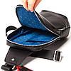 Мужской городской рюкзак Eminsa 40101 17-1 из натуральной кожи черный, фото 5