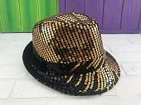 Шляпа диско с  золотыми паетками - аксессуар для вашего образа