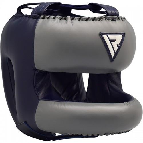 Боксерский шлем с бампером RDX Leather Pro