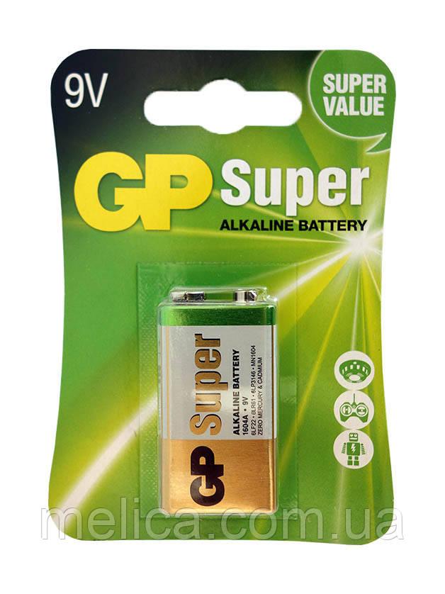 Щелочной элемент питания GP Super Alkaline Крона 6LR61-1604А-9V - 1 шт.