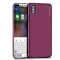 Чехол-накладка для Apple iPhone X X-Level PC KNIGHT Темно-розовая (PC-001187), фото 1
