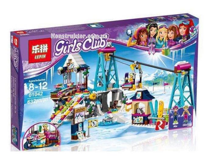 """Конструктор Lepin 01042 """"Горнолыжный курорт: подъёмник"""" 632 детали. Аналог Lego Friends 41324"""