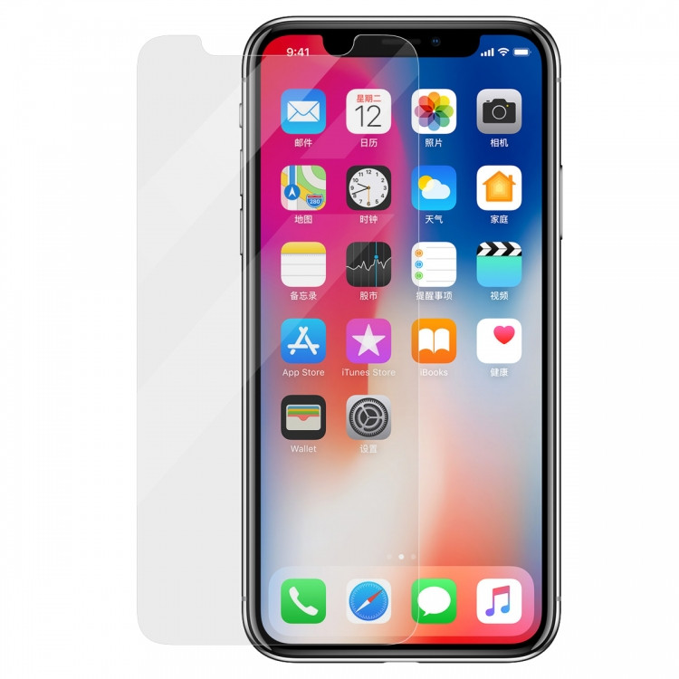 Защитное стекло Baseus Anti-Fingerprint 0.25mm для Apple iPhone X (PG-000304)