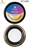 Био-гель для укрепления ногтей FOX (top, base,builder), 15 ml