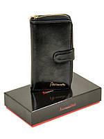 Женский кошелек кожаный на молнии с визитницей Alessandro Paoli W21-17, фото 1