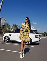 """Женское платье - рубашка """"Клетка"""", фото 1"""