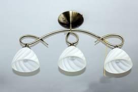 Люстра, 3 лампы, белая, фото 2