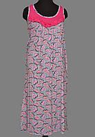 9dc382403276 Ночная сорочка без рукава длинная женская (ночнушка) трикотажная хлопковая  больших размеров Украина