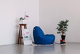 Синее кресло-мешок груша 120*90 см из ткани Оксфорд