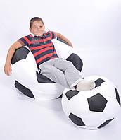 Комплект кресло-мяч 80 см + мячик 50 см из ткани Оксфорд черно-белое, кресло-мешок мяч