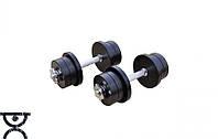 Гантели наборные 2шт по 12 кг, 18 кг и 53 кг  стальные