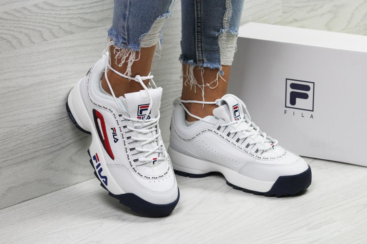 162707d9dd83 Стильные белые женские кроссовки Fila - Фила   кросівки жіночі філа (Топ  реплика ААА+)